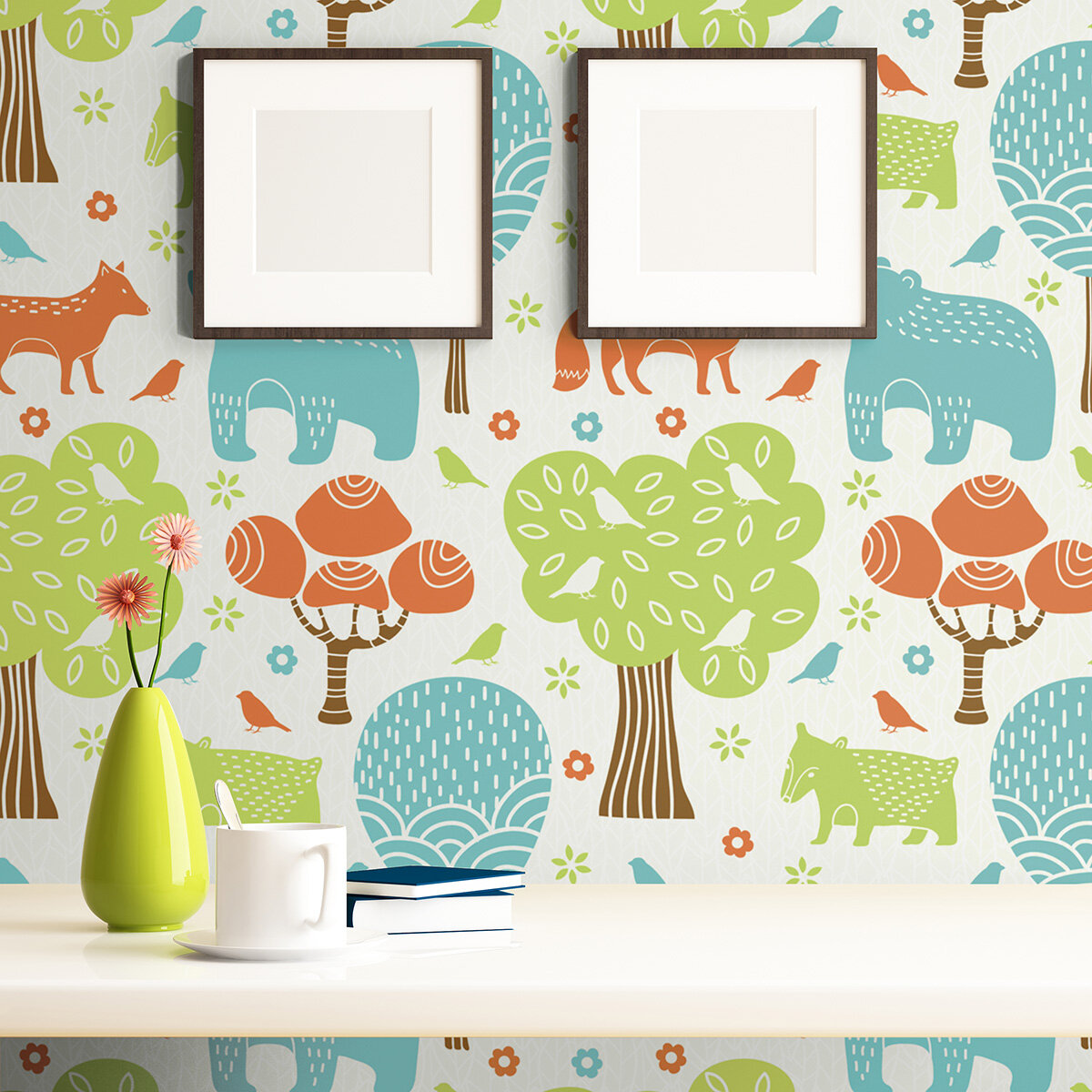 Isabelle Max Waldrep Animals Baby Removable Peel And Stick Wallpaper Panel Wayfair