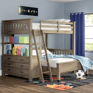 Gisselle LShaped Bunk Beds with Drawers and Shelves