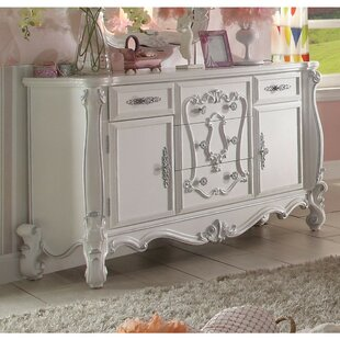 Sunnyside Wood 5 Drawer Combo Dresser