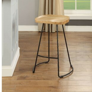 Boatright Wood and Metal 24 Bar Stool (Set of 2) Foundry Select
