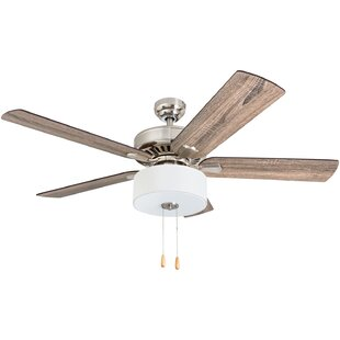 Flush mount ceiling fans youll love wayfair 52 pantano 5 blade led ceiling fan aloadofball Image collections