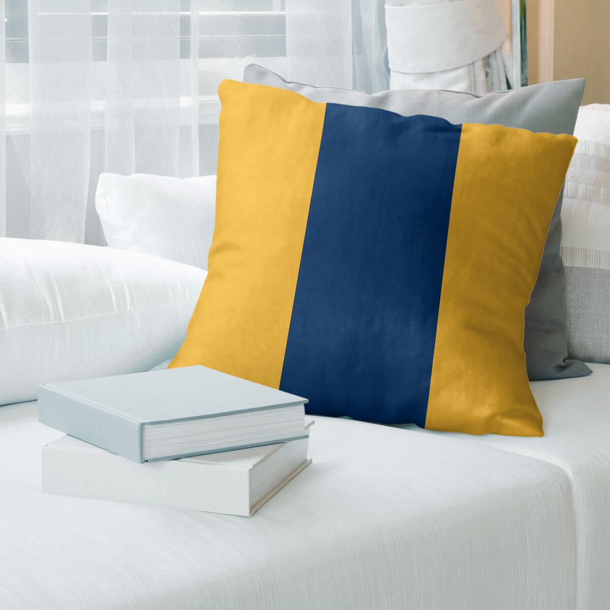East Urban Home Buffalo Hockey Striped Pillow Cover Wayfair