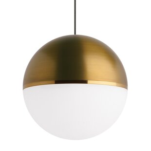 Ivy Bronx Godwin 1-Light Globe LED Pendant