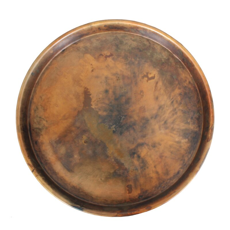 Degraffenreid Iron Round Accent Tray