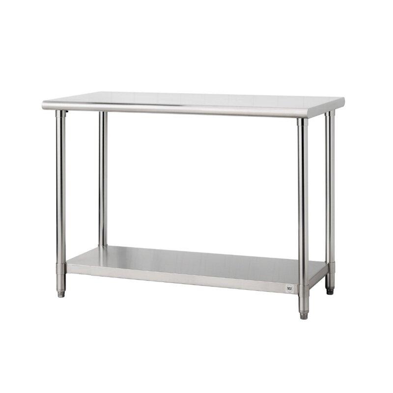 Rebrilliant 48 W Adjustable Shelf Height Stainless Steel Top Workbench Reviews Wayfair Ca