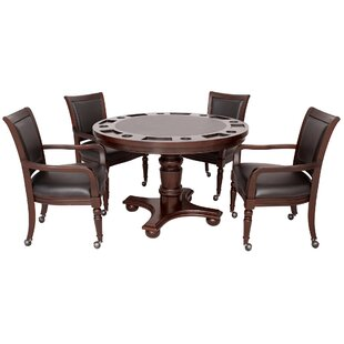 Affordable Bridgeport 2-in-1 Poker Game Table Set By Hathaway Games
