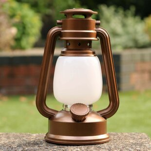 Brown Battery Powered LED Lantern By Sol 72 Outdoor