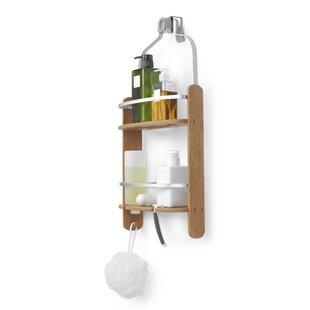 Barrel Wood Hanging Shower Caddy