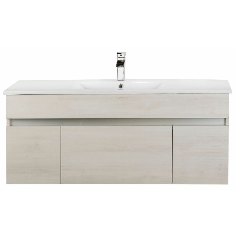Cutler Kitchen Amp Bath Ivory Floating 48 Quot Single Bathroom