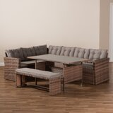 Concow 4 Piece Rattan Complete Patio Set With Cushions By Latitude Run Newshopfurnitures