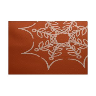 Web Art Holiday Print Orange Outdoor Indoor/Outdoor Area Rug