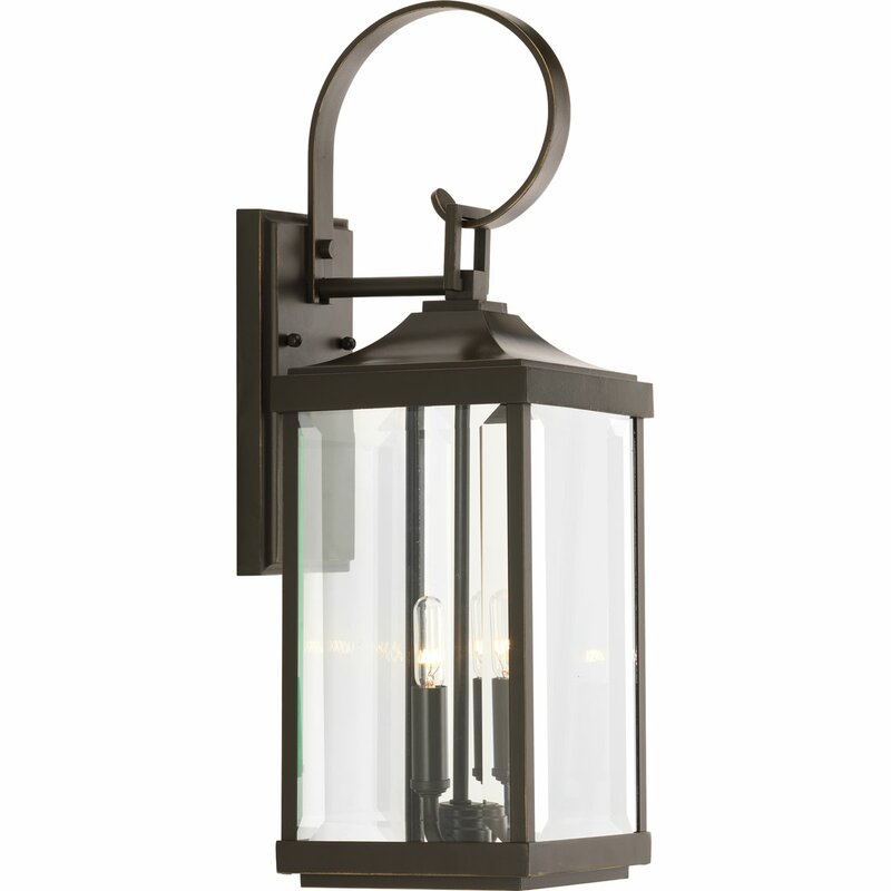 Kinlaw 2 light outdoor wall lantern