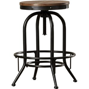 empire adjustable height swivel bar stool set of 2