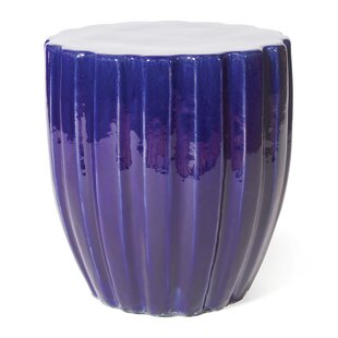 Scallop Ceramic Accent Stool by Seasonal Living