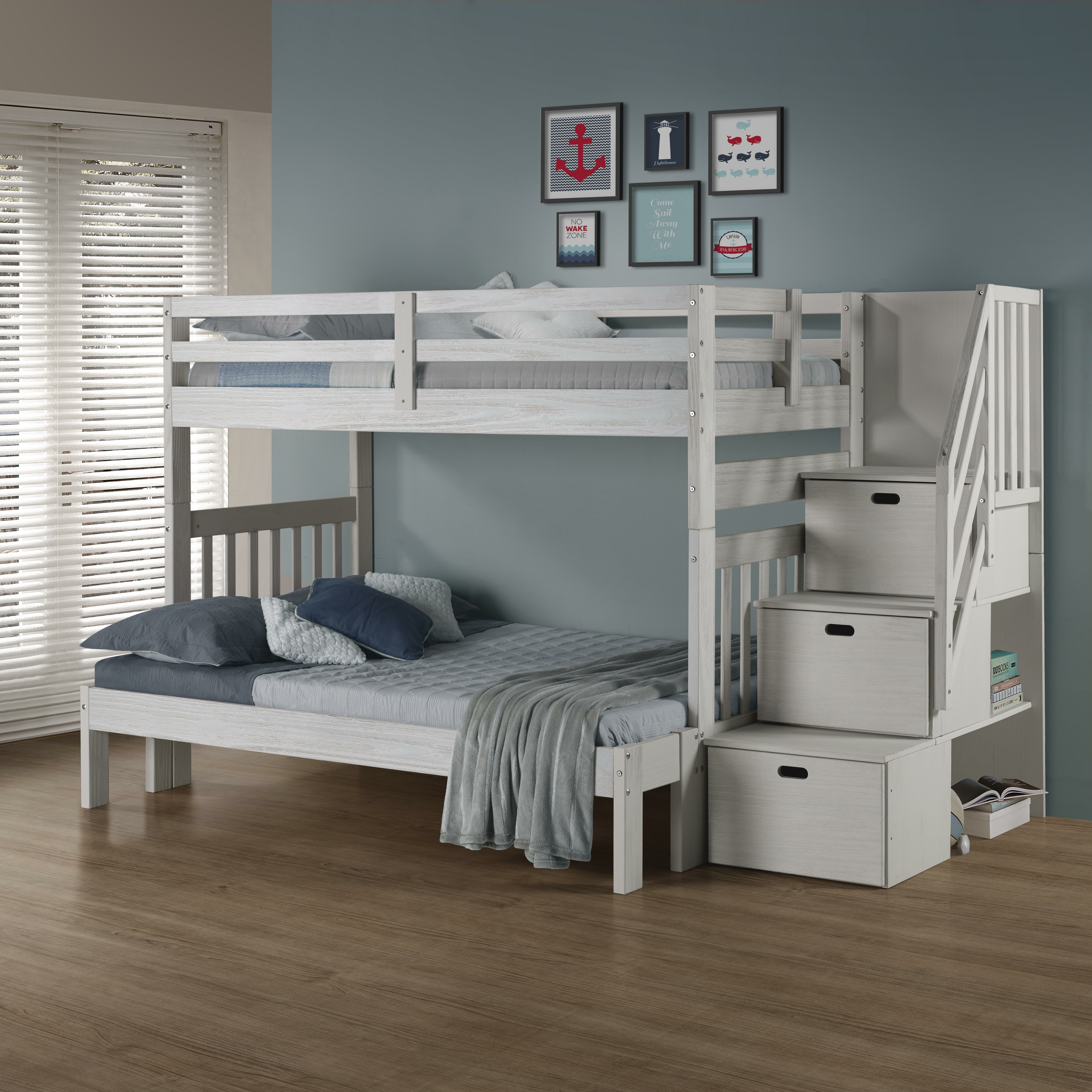 Picture of: Winston Porter Jenafir Twin Over Full Bunk Bed Reviews Wayfair