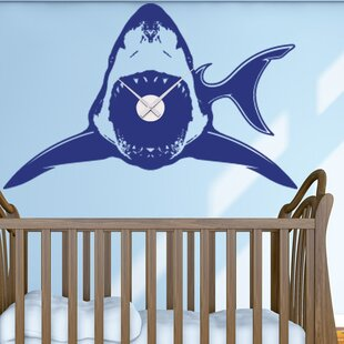 Shark Wall Clock Wall Decal