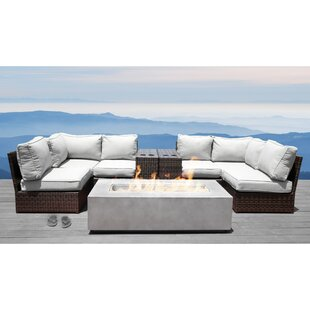 Vasil 9 Piece Sectional Set with Cushions