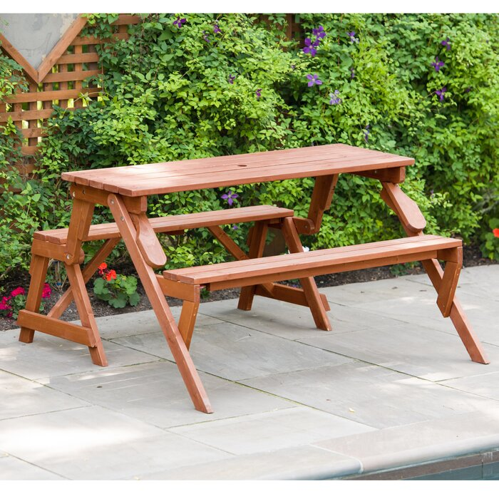 Fabulous Andres Folding Solid Wood Picnic Table Dailytribune Chair Design For Home Dailytribuneorg