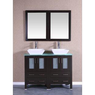 Brigantine 47 Double Bathroom Vanity Set with Mirror by Bosconi