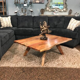 Compare & Buy Signe Live Edge Wooden Coffee Table by Millwood Pines Reviews (2019) & Buyer's Guide