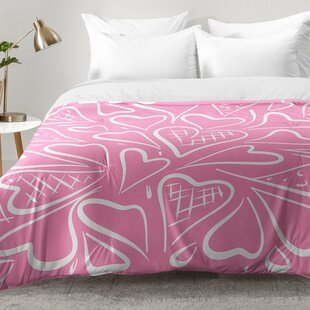 Love Is In The Air Rose Comforter Set by East Urban Home