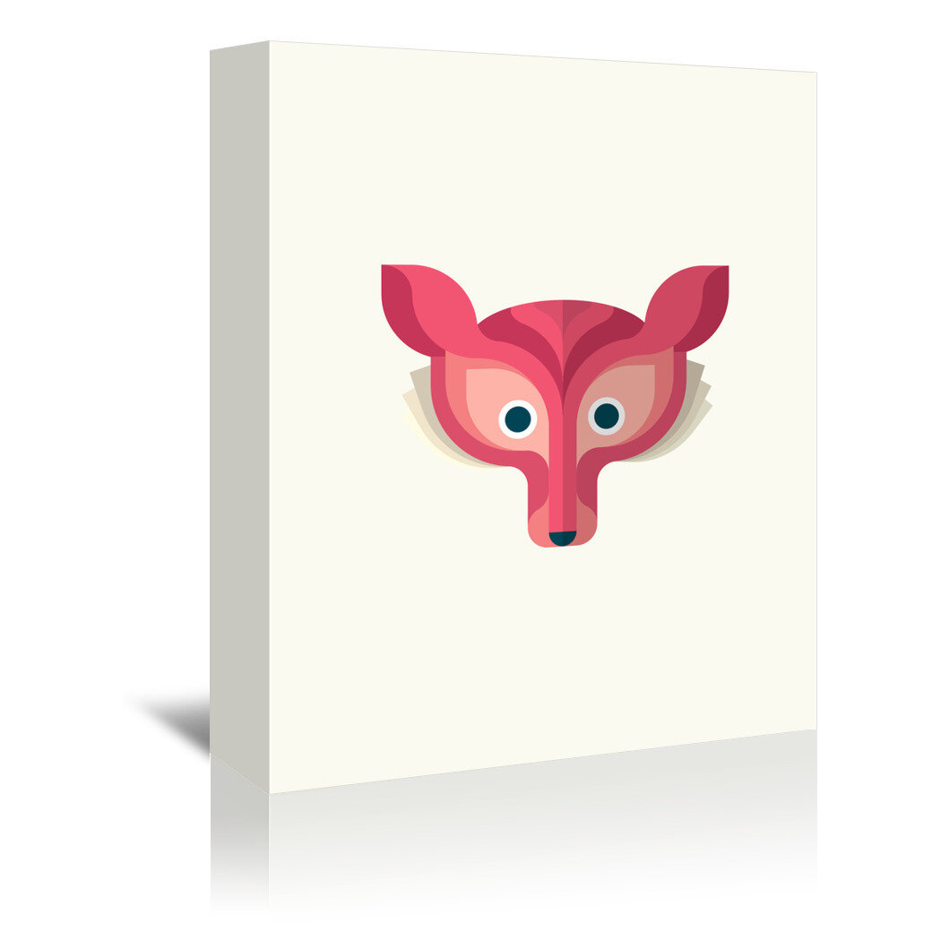 Isabelle Max Fox Graphic Art On Wrapped Canvas
