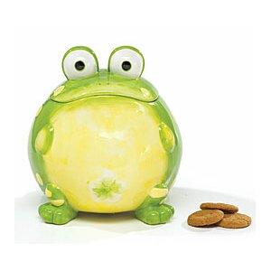 Ceramic Toby Toad 105.8 qt. Cookie Jar