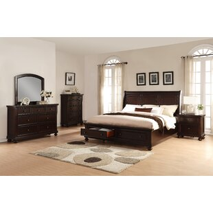 Roundhill Furniture Brishland King Platform Configurable Bedroom Set