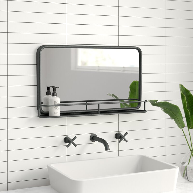 AllModern Cordova Accent Mirror with Shelves & Reviews ...