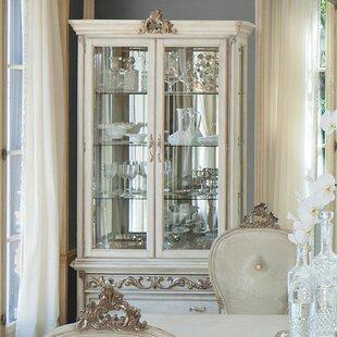 Michael Amini Platine De Royale Lighted Curio Cabinet