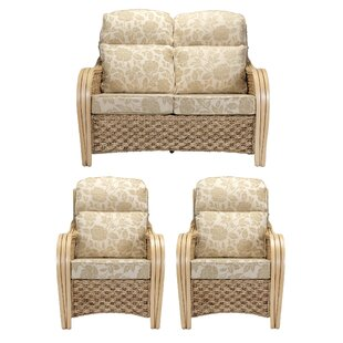 Alvey 3 Piece Conservatory Sofa Set By Rosalind Wheeler