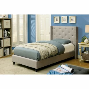 Lanigan Upholstered Wingback Bed