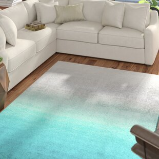 Read Reviews Bierman Hand-Tufted Turquoise/Gray Area Rug By Mercury Row
