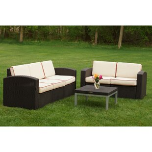 Ellie 3 Piece Sofa Set with Cushions