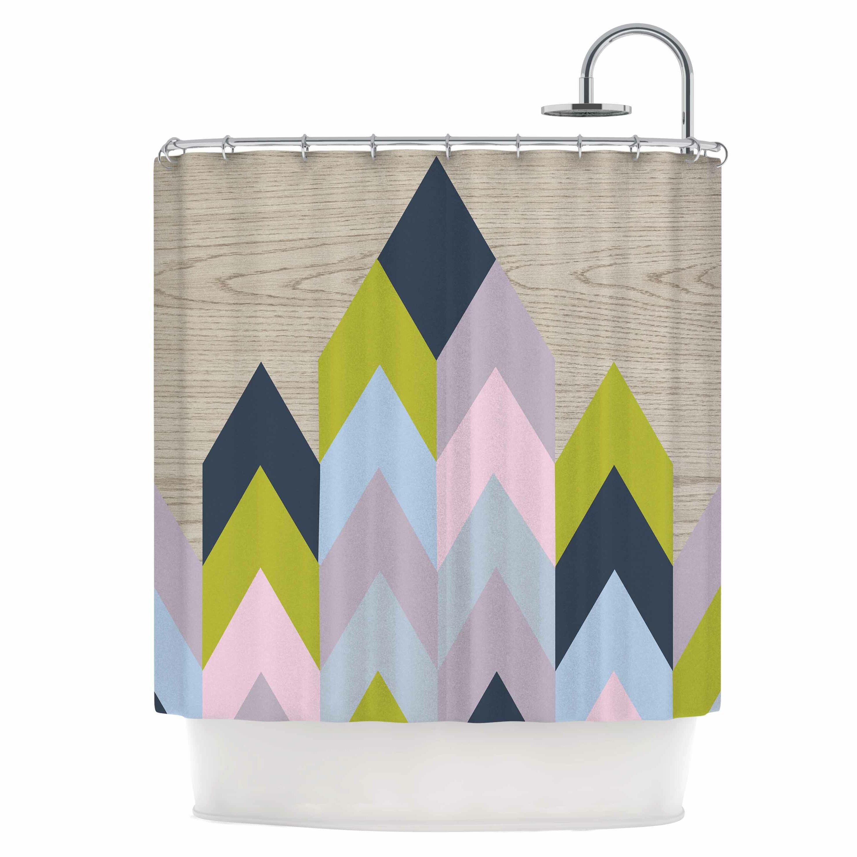 East Urban Home Woodgrain Shower Curtain