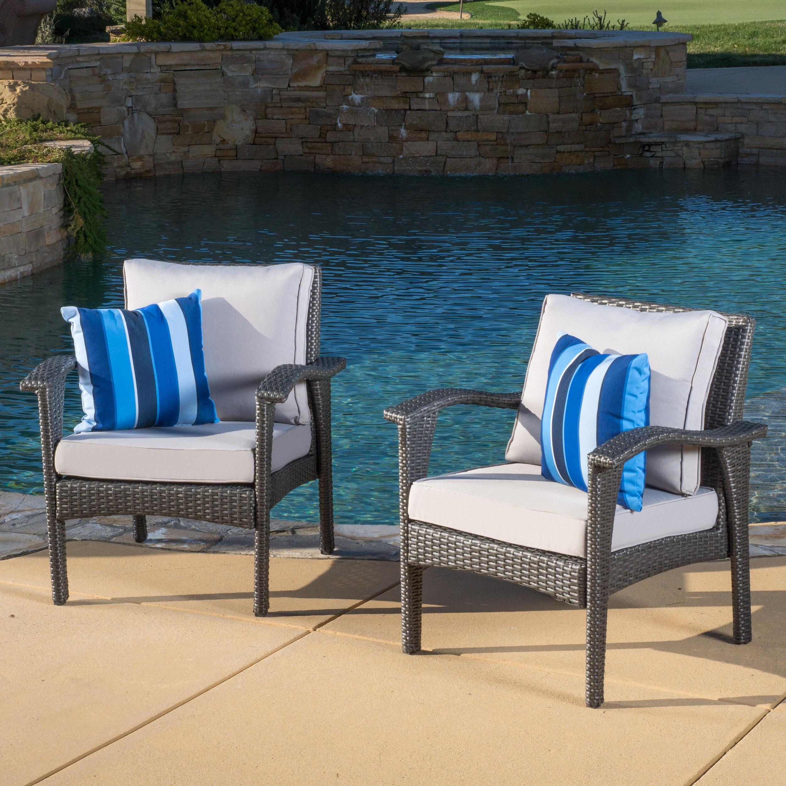 Capra Patio Chair With Cushion Reviews Joss Main