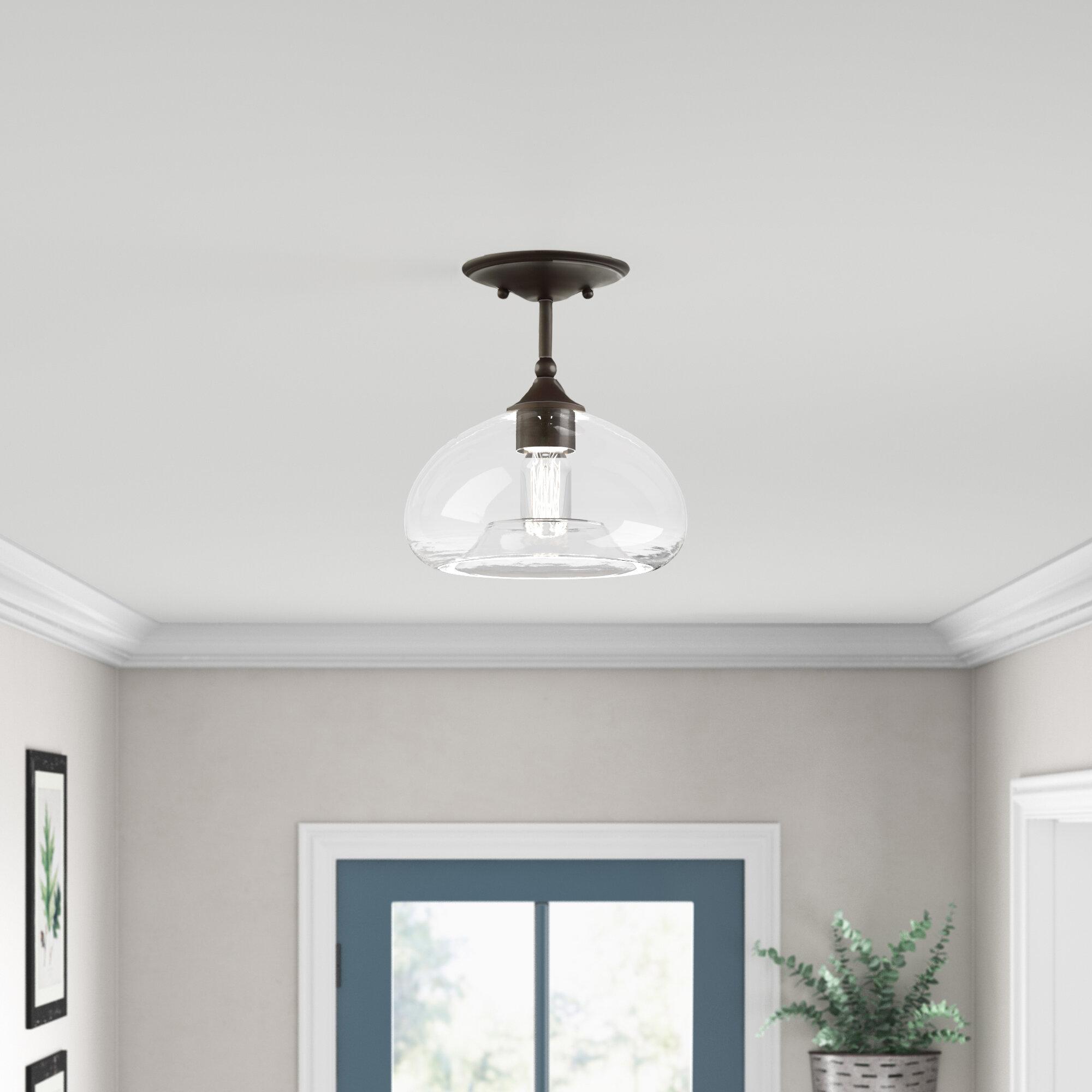 Allyssa 1 Light 10 75 Dome Ambient Semi Flush Mount Reviews Birch Lane