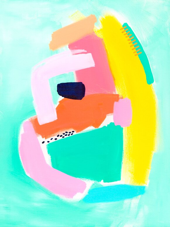 Color Block 3 Acrylic Painting Print Joss Main