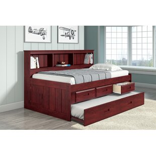 Colletti Captains Bed with Trundle Drawers and Bookcase