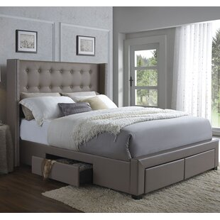 a704b4522f92 Storage Included Upholstered Beds You'll Love | Wayfair