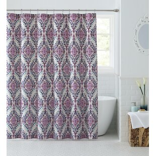 Best Reviews Kittie Shower Curtain By Bungalow Rose