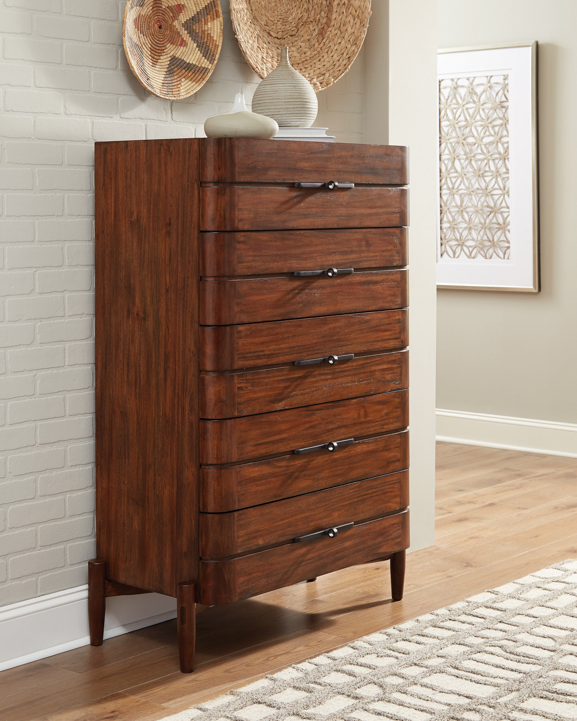 Mahogany Red Wood Dressers Chests You Ll Love In 2021 Wayfair