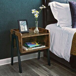 Parkes Wood Stackable End Table with Storage