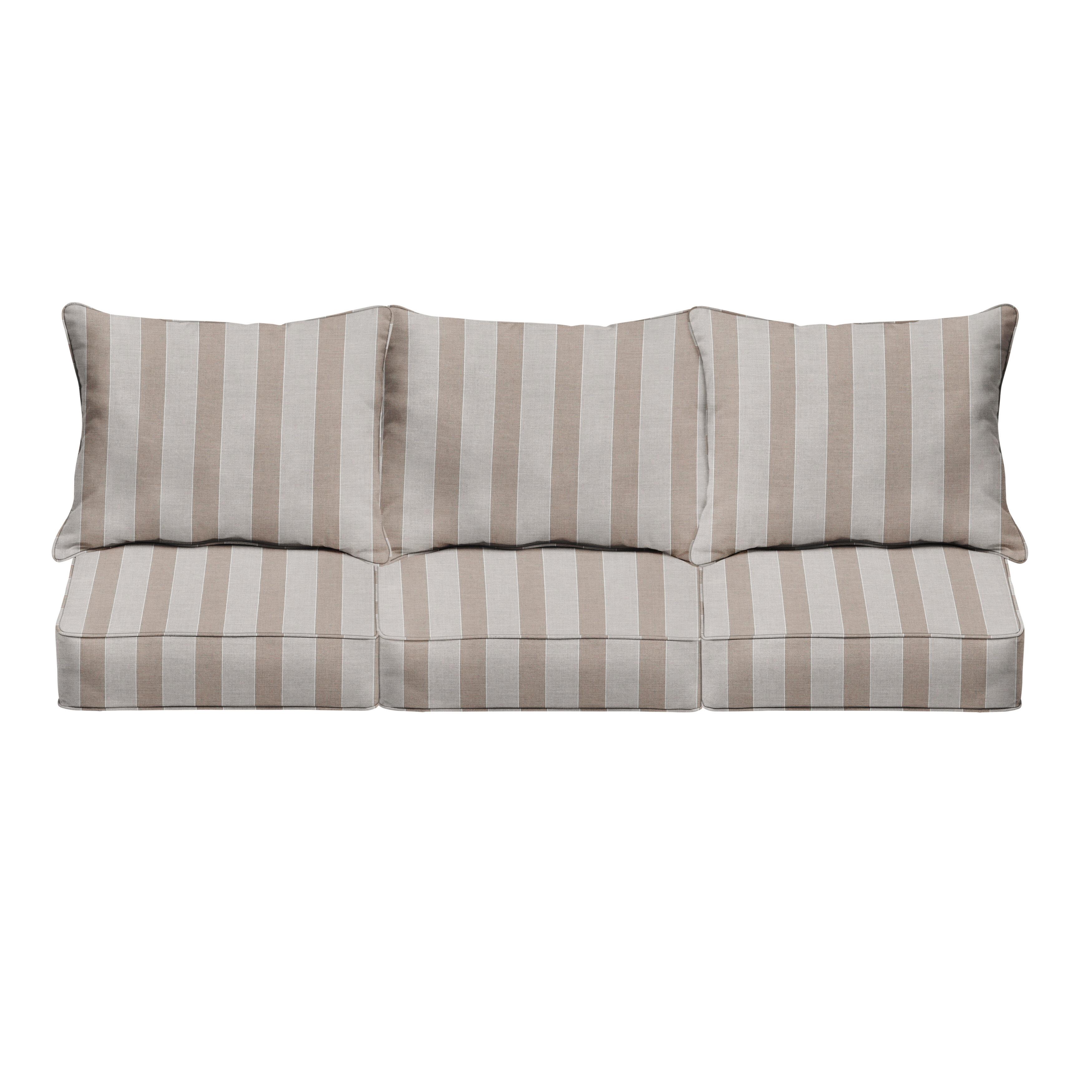Mozaic Company Sunbrella Ranfe Dune Indoor Outdoor Sofa Cushion Set Set Of 6 Wayfair