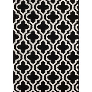 Online Reviews Myra Black/White Area Rug By Zipcode Design