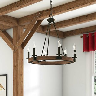 Flavio 6-Light Wagon Wheel Chandelier by Gracie Oaks