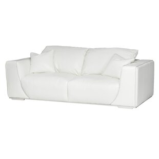 Mia Bella Sophia Leather Sofa