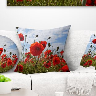 Flower Bright Poppy Photo Pillow