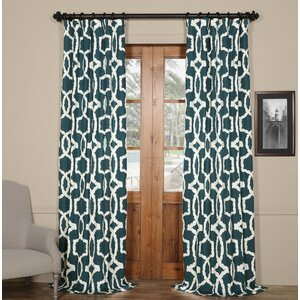 Coatsburg Geometric Printed Cotton Twill Rod Pocket Single Curtain Panel