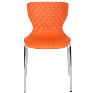 Lowell Armless Contemporary Stacking Chair by Flash Furniture